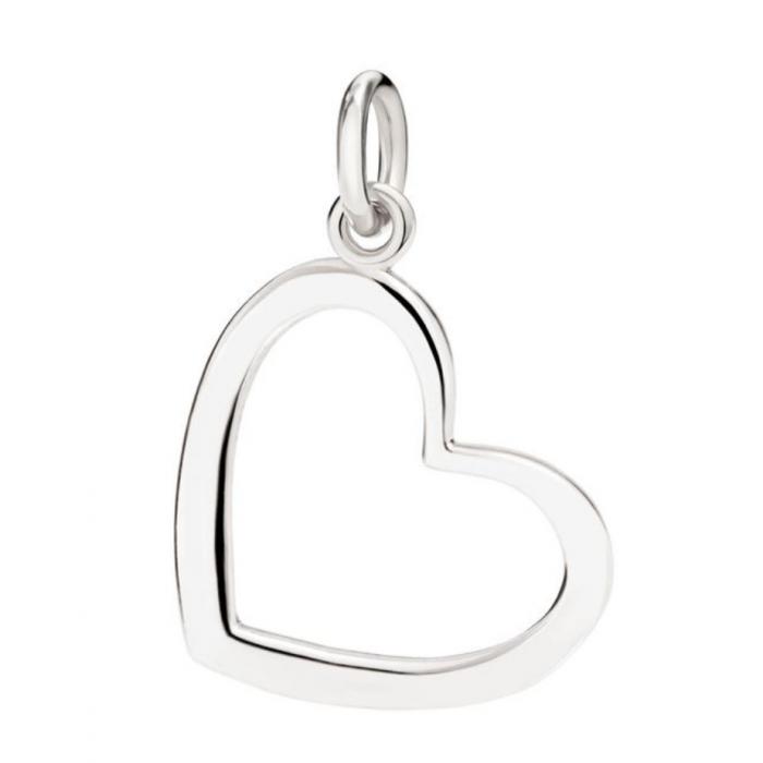 Silhouette cuore argento