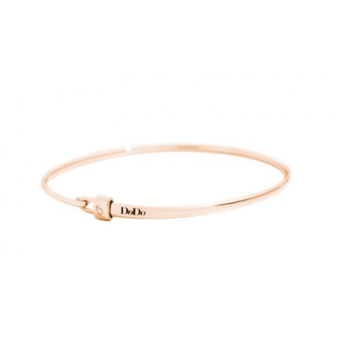 Bracciale Bangle oro rosa con stopper
