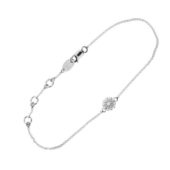 Bracciale Damiani Margherita in oro bianco con diamanti