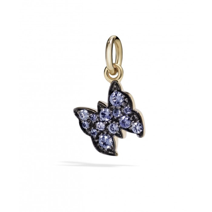 Farfalla oro rosa con zaffiri azzurri