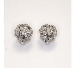 Orecchini Damiani Chignon in oro bianco e diamanti
