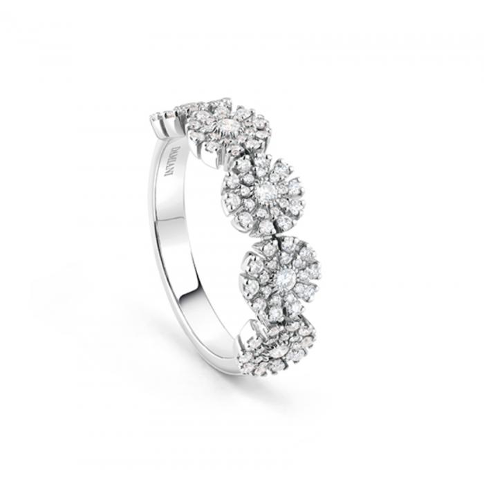 Anello Damiani Margherita in oro bianco e diamanti