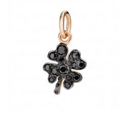 quadrifoglio diamanti neri