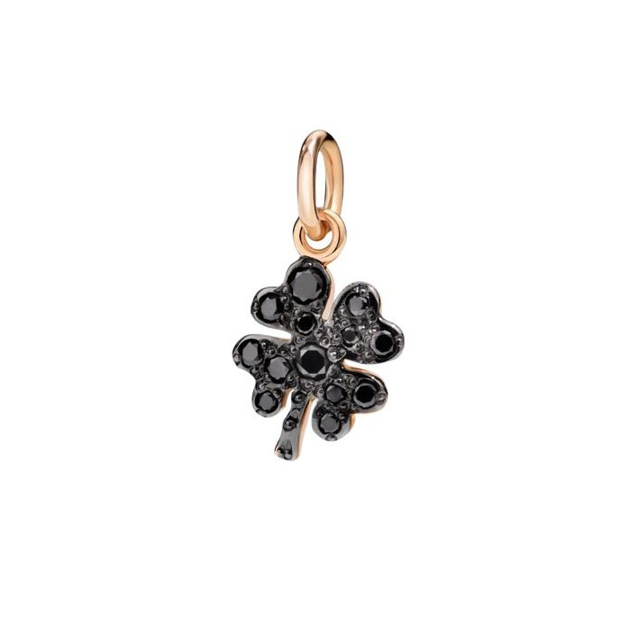 quadrifoglio oro rosa e diamanti black
