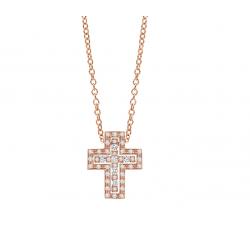 Croce Damiani Belle Epoque in oro rosa e diamanti