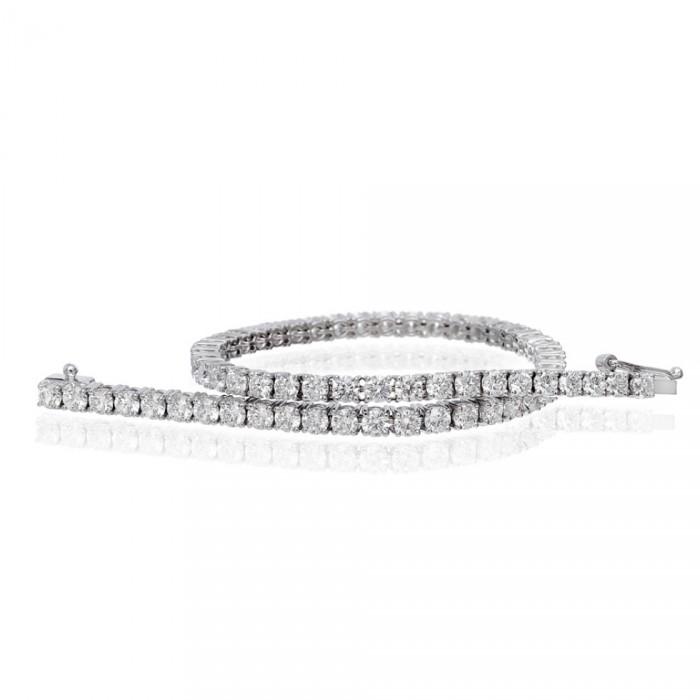 Bracciale Tennis in Oro Bianco con Diamanti