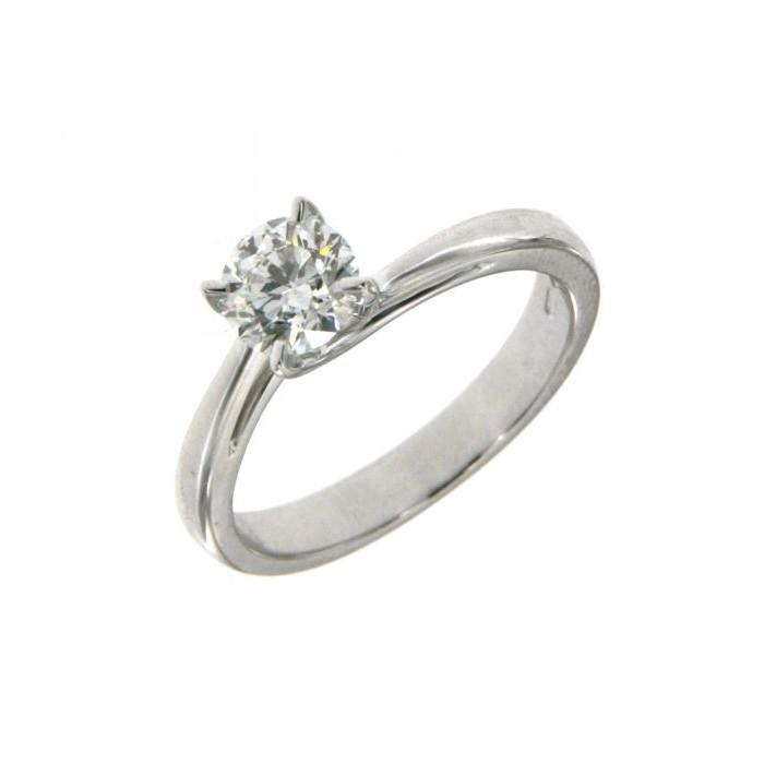 Bianco Valentino Oro Diamante Modello Anello Solitario In Con MqUSVzp