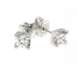 Orecchini PUNTI LUCE in oro bianco con diamanti