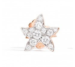Mono orecchino stella diamanti bianchi