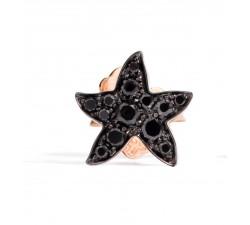 Mono orecchino stella diamanti neri