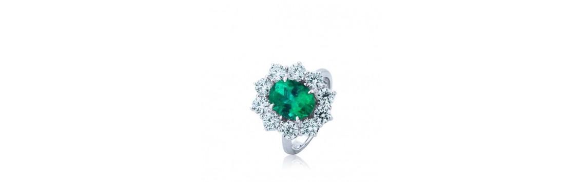 Anelli con smeraldi, vendita Anelli con smeraldi online, prezzi e offerte